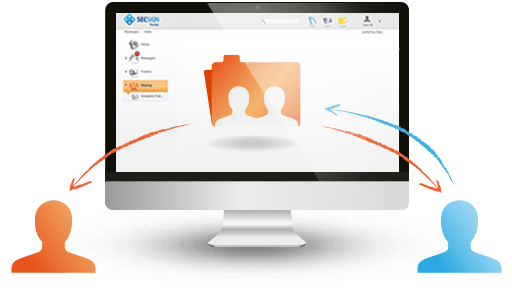 Highly protected online teamwork - collaborate via folders with files and messages.